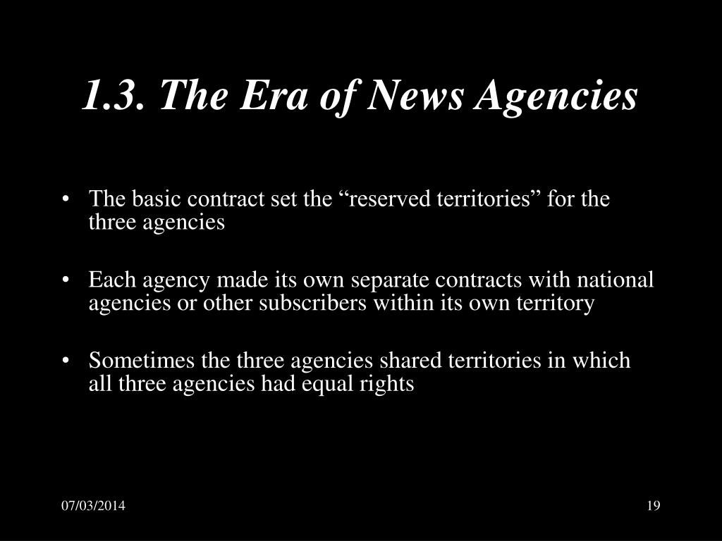 1.3. The Era of News Agencies