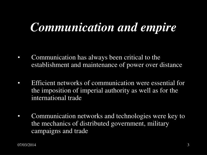 Communication and empire l.jpg