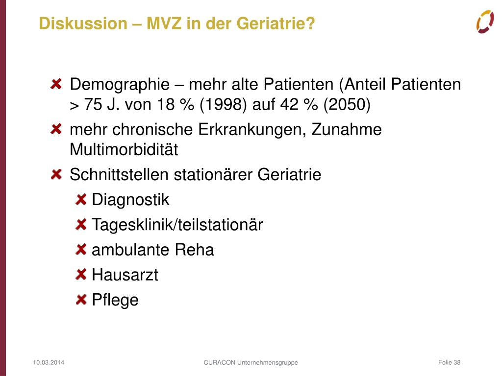 Diskussion – MVZ in der Geriatrie?