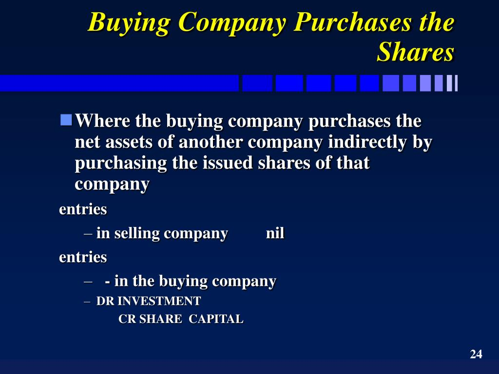 Buying Company Purchases the Shares