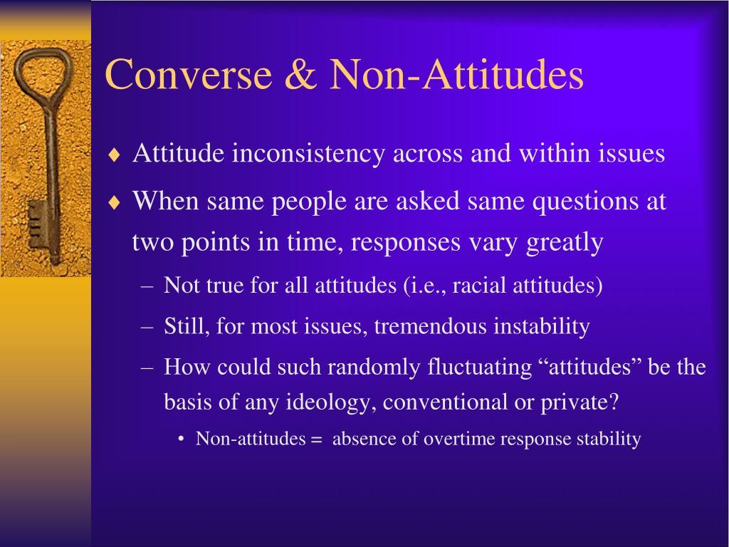Converse & Non-Attitudes