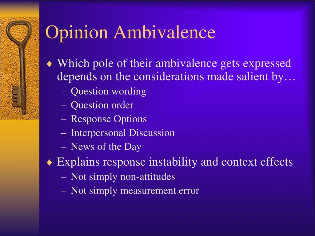 Opinion Ambivalence