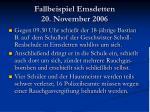 fallbeispiel emsdetten 20 november 2006
