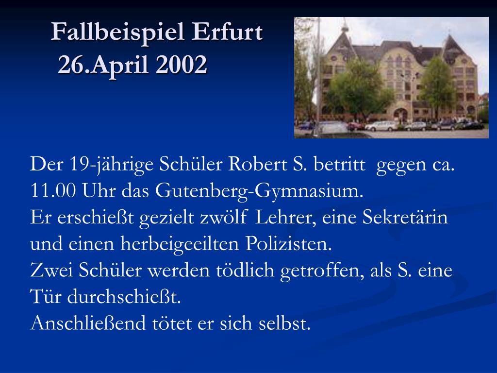 Fallbeispiel Erfurt