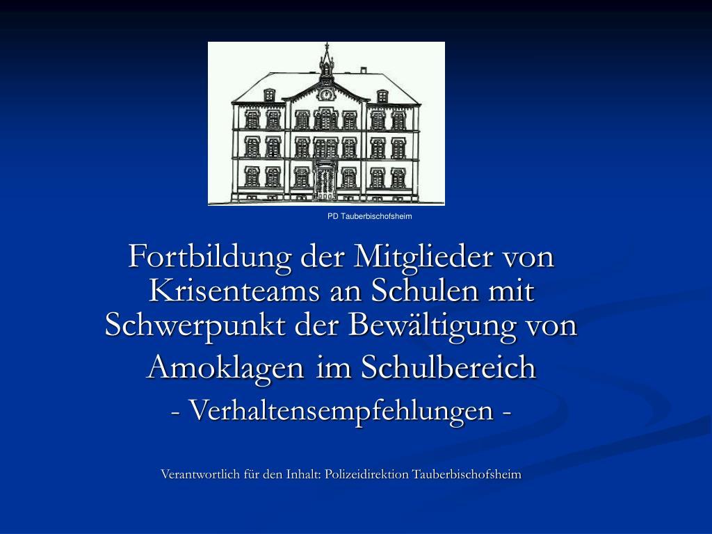 PD Tauberbischofsheim
