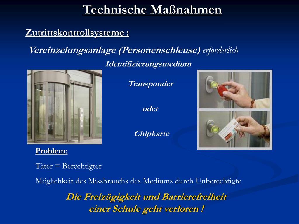 Technische Maßnahmen
