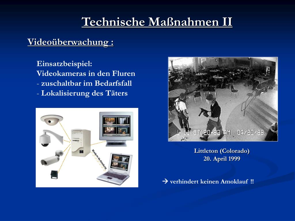 Technische Maßnahmen II