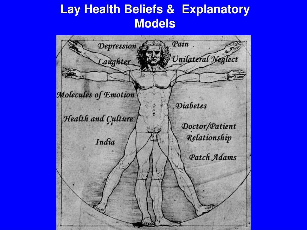 Lay Health Beliefs &  Explanatory Models
