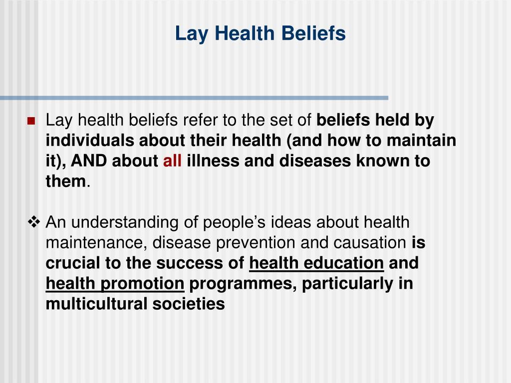 Lay Health Beliefs