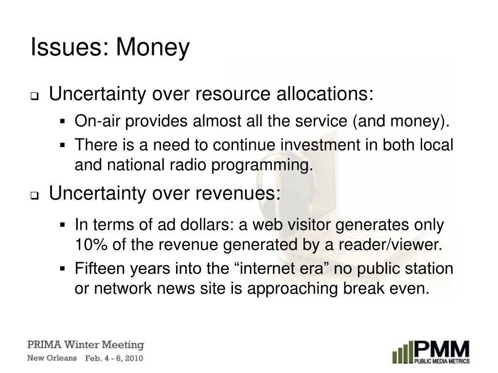 Issues: Money
