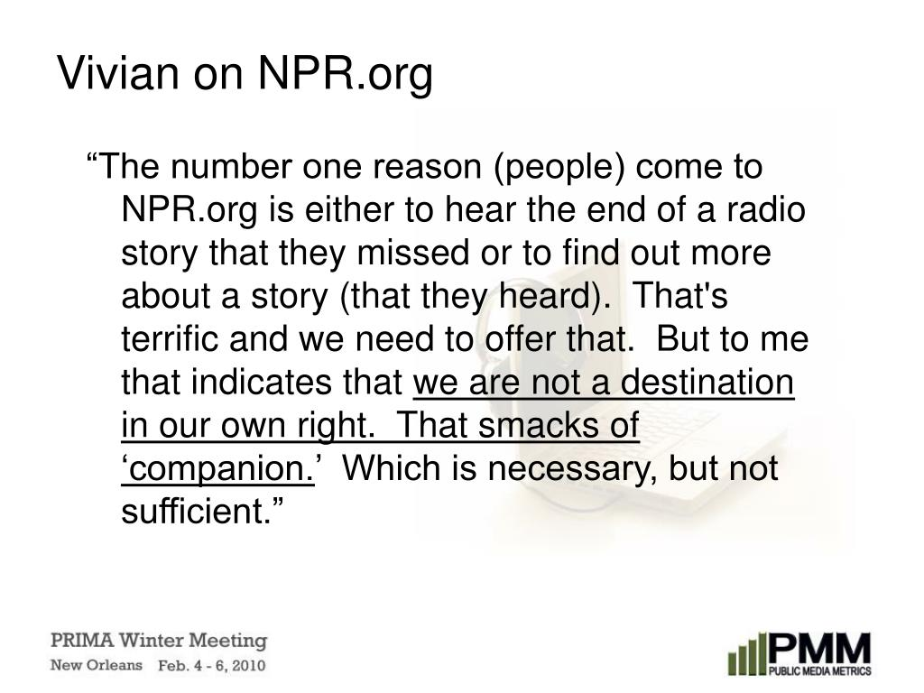 Vivian on NPR.org