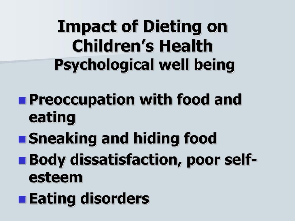 Impact of Dieting on Children's Health