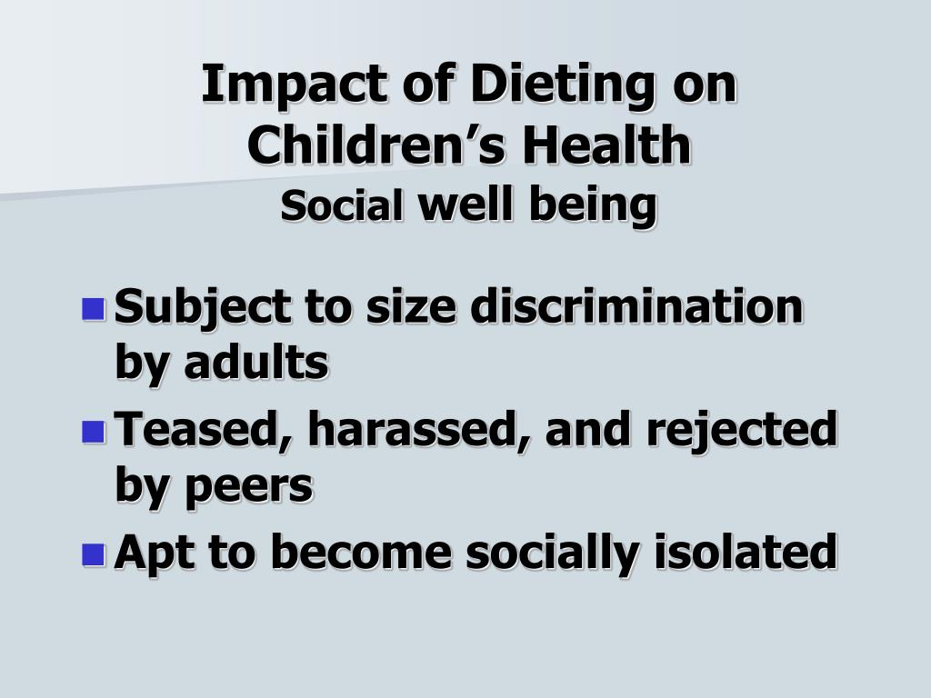 Impact of Dieting on