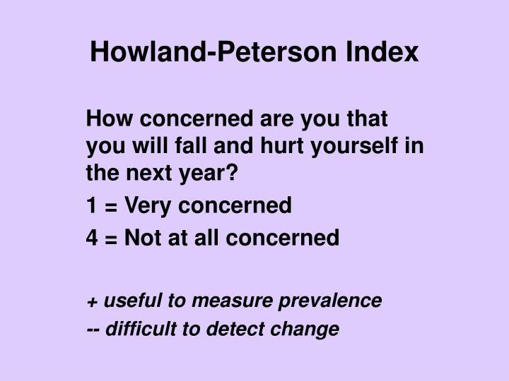 Howland-Peterson Index