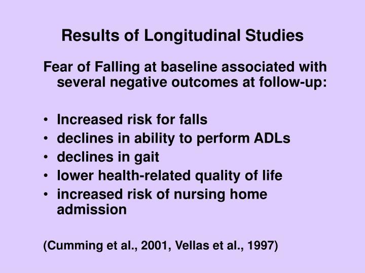 Results of Longitudinal Studies