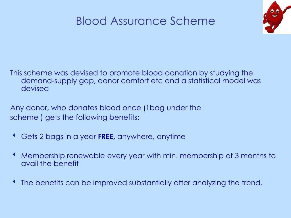 Blood Assurance Scheme