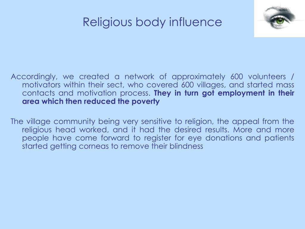 Religious body influence