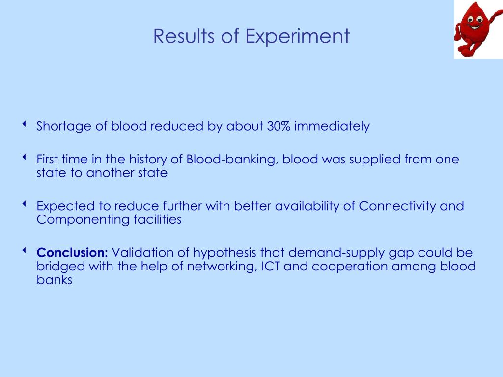 Results of Experiment