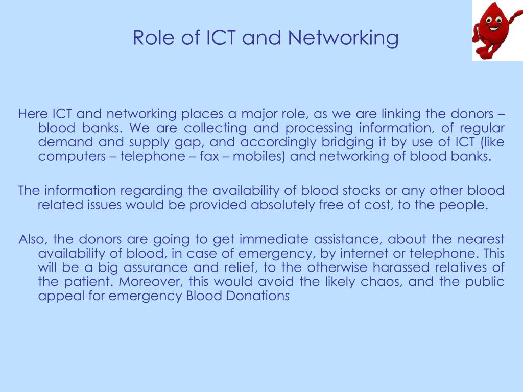 Role of ICT and Networking