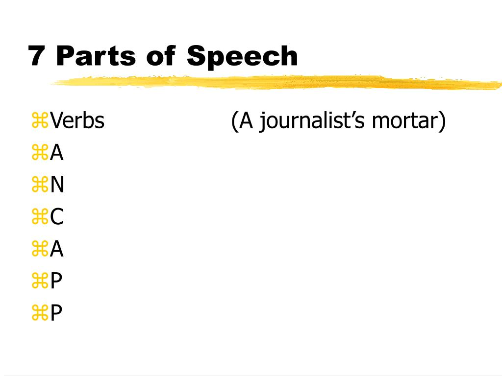 7 Parts of Speech
