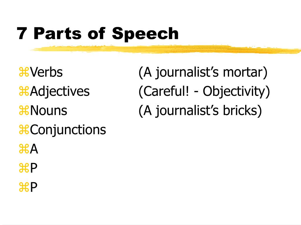 7 Parts of Speech