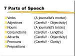 7 parts of speech76