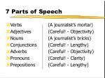 7 parts of speech77