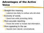 advantages of the active voice