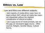 ethics vs law