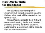 how not to write for broadcast51