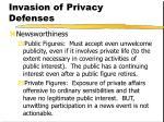 invasion of privacy defenses200