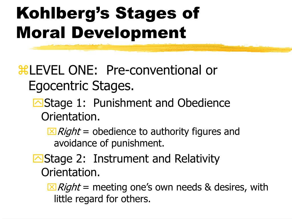 Kohlberg's Stages of