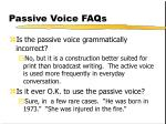 passive voice faqs