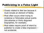 publicizing in a false light