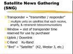 satellite news gathering sng36