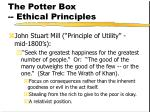 the potter box ethical principles151