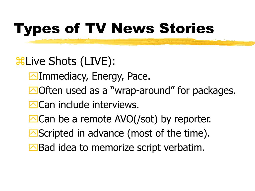 Types of TV News Stories