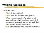 writing packages205
