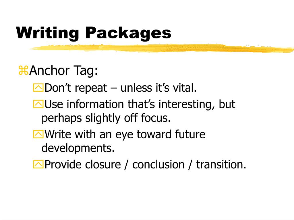 Writing Packages