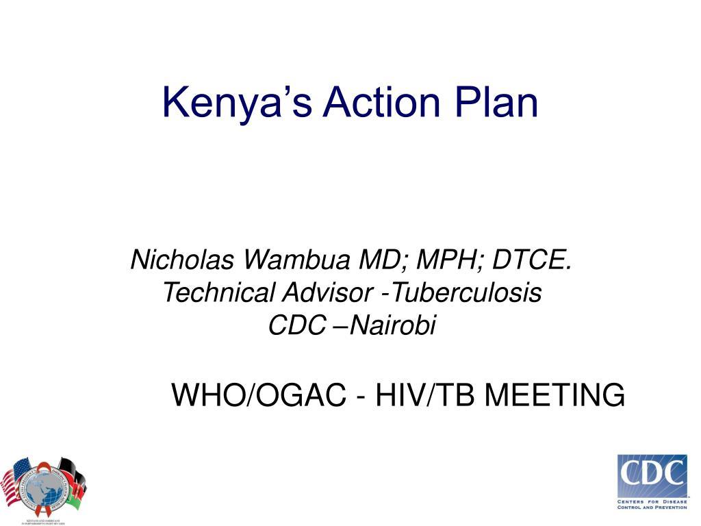 kenya s action plan