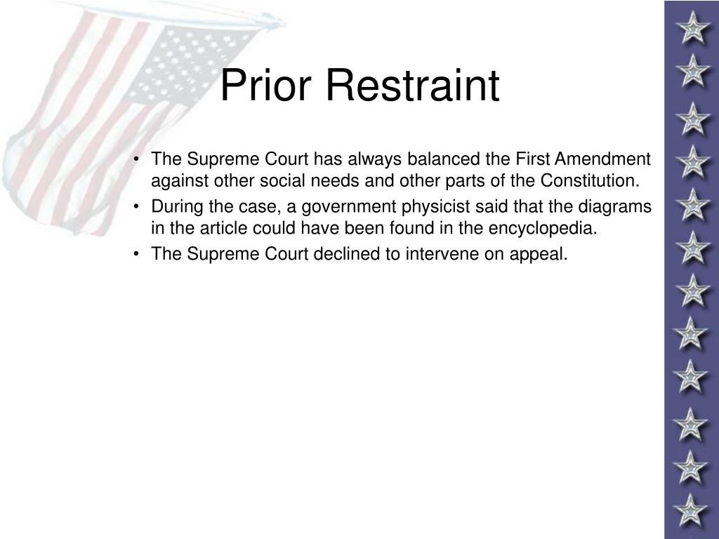 Prior Restraint