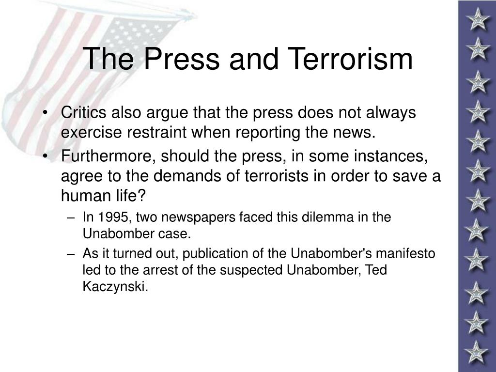 The Press and Terrorism