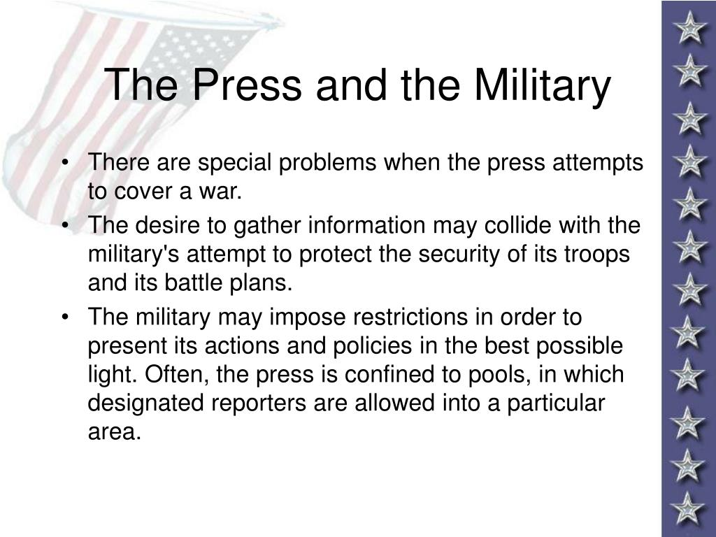 The Press and the Military