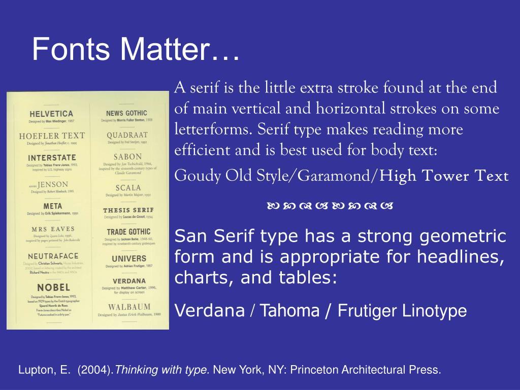 Fonts Matter…
