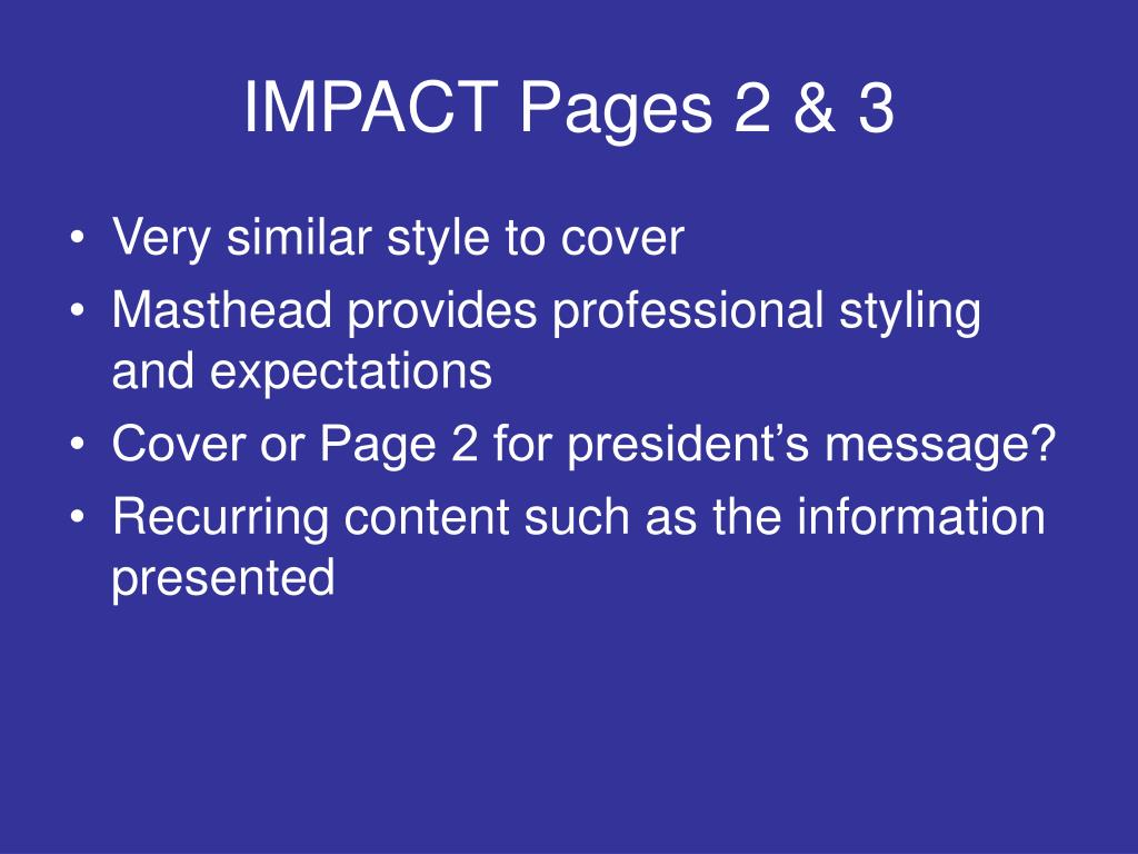 IMPACT Pages 2 & 3