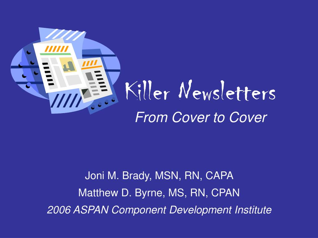 killer newsletters from cover to cover