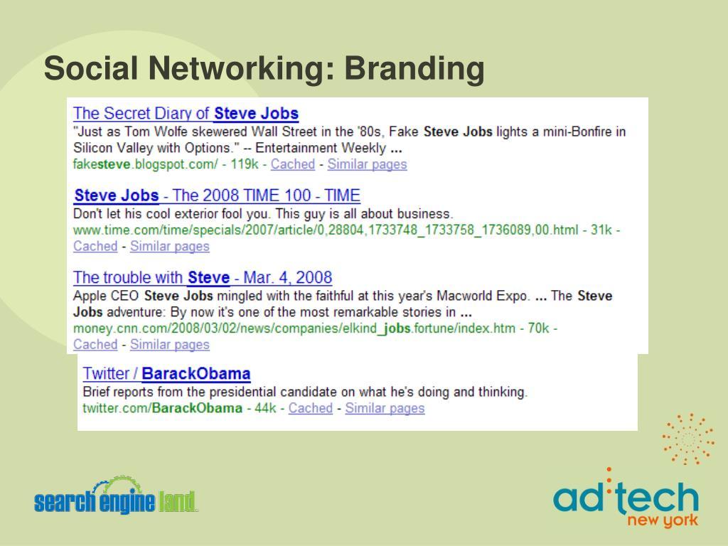 Social Networking: Branding