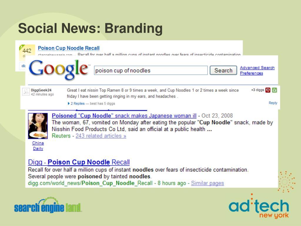 Social News: Branding