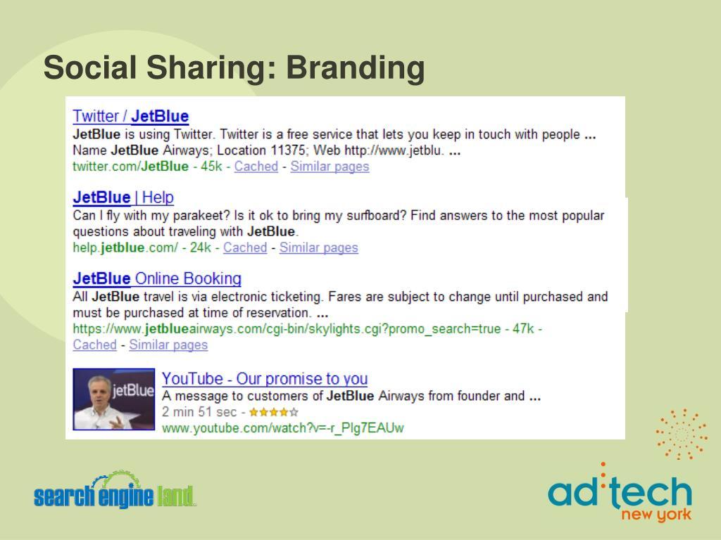 Social Sharing: Branding