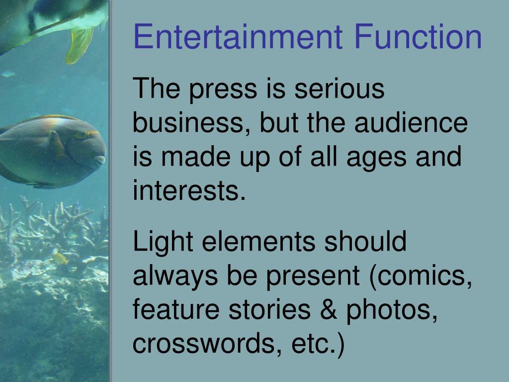 Entertainment Function